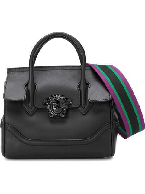 Versace Palazzo Empire Shoulder Bag In Knjoc Noir/noir
