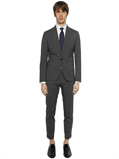 Dsquared2 Tokyo Light Stretch Wool Gabardine Suit, Grey