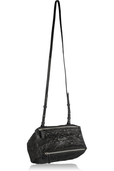 Givenchy 'mini Pepe Pandora' Leather Shoulder Bag - Black In 001 Black