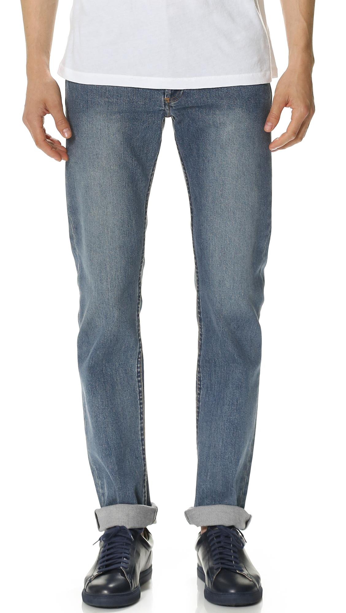 A.p.c. New Standard Stretch Jeans In Indigo