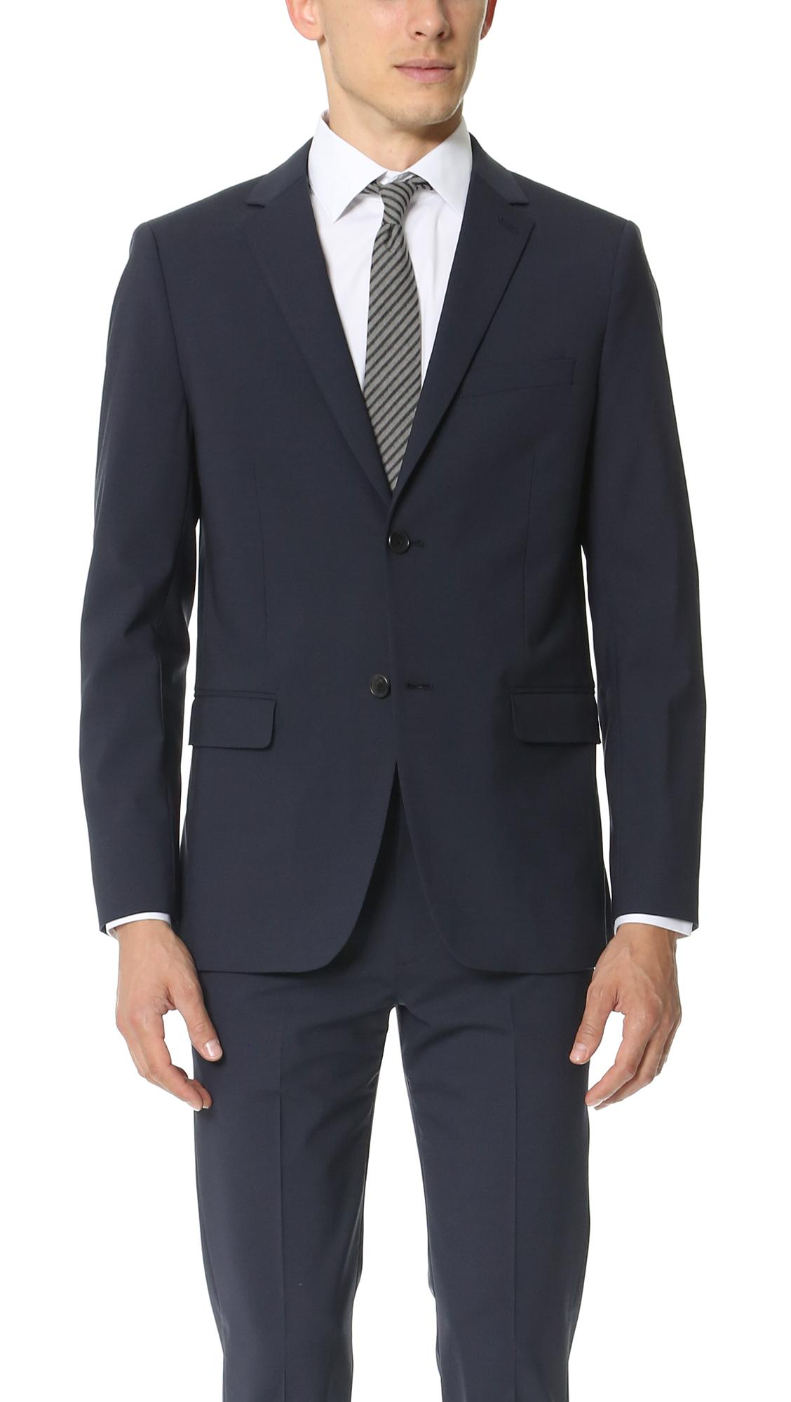 Theory Wellar Suit Jacket In Navy