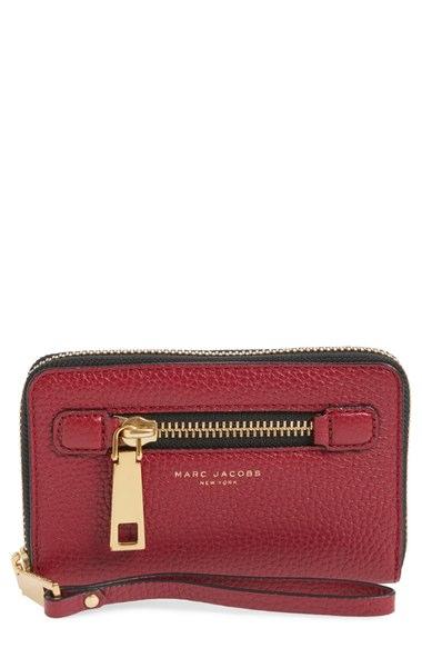 82ded308d105 Marc Jacobs Recruit Zip-Around Phone Wristlet Wallet