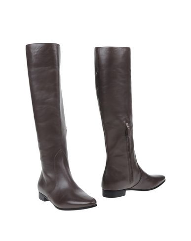 Prada Leather Knee-high Boots In Nero-black