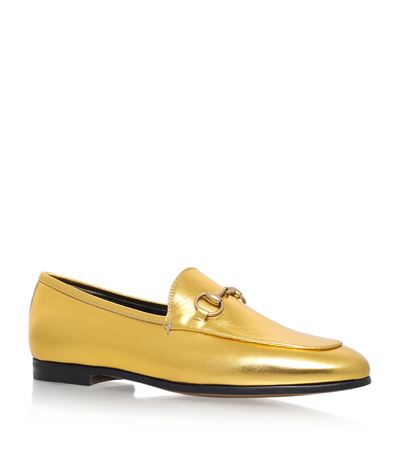 Gucci 'jordaan' Metallic Loafers In The