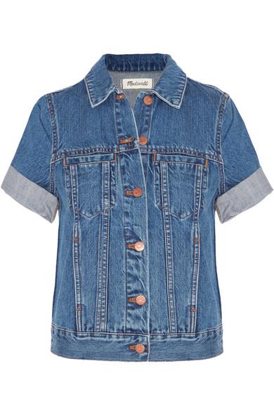 Madewell 'summer' Short Sleeve Denim Jacket In Rocco Wash
