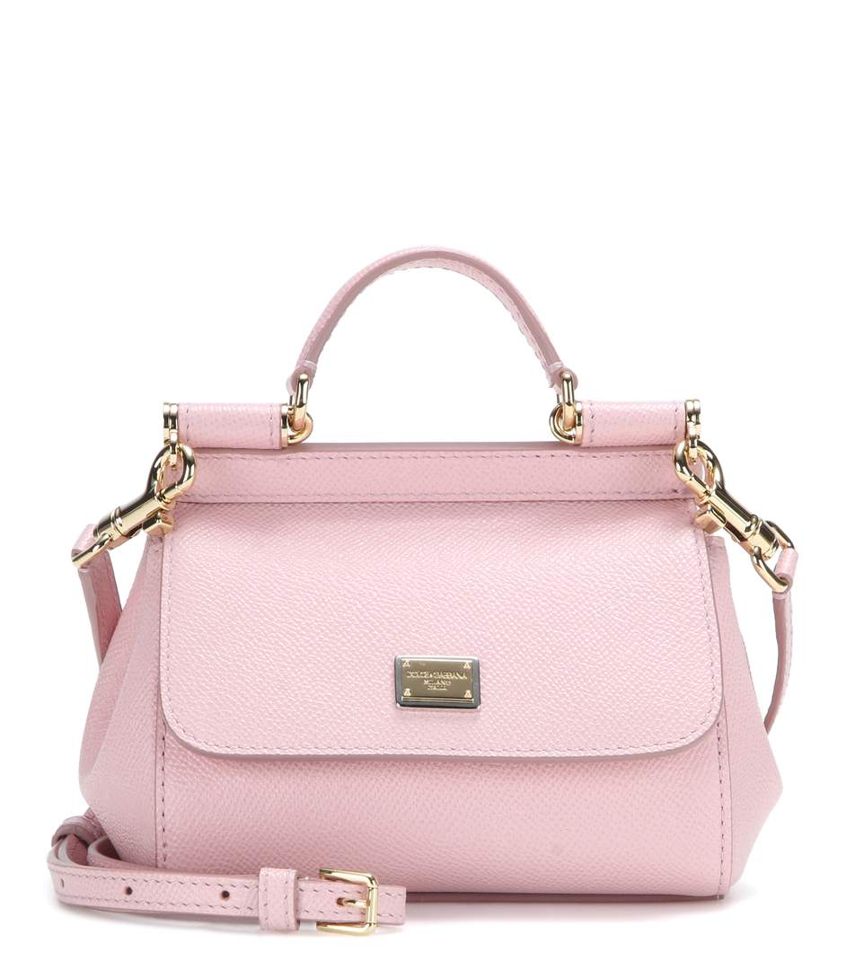 b0d3f55c70a6 Dolce   Gabbana Medium Sicily Handbag In Dauphine Leather In Pink ...