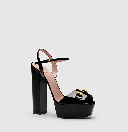 b38672fff725 Gucci Horsebit-Detailed Leather Platform Sandals In Klack