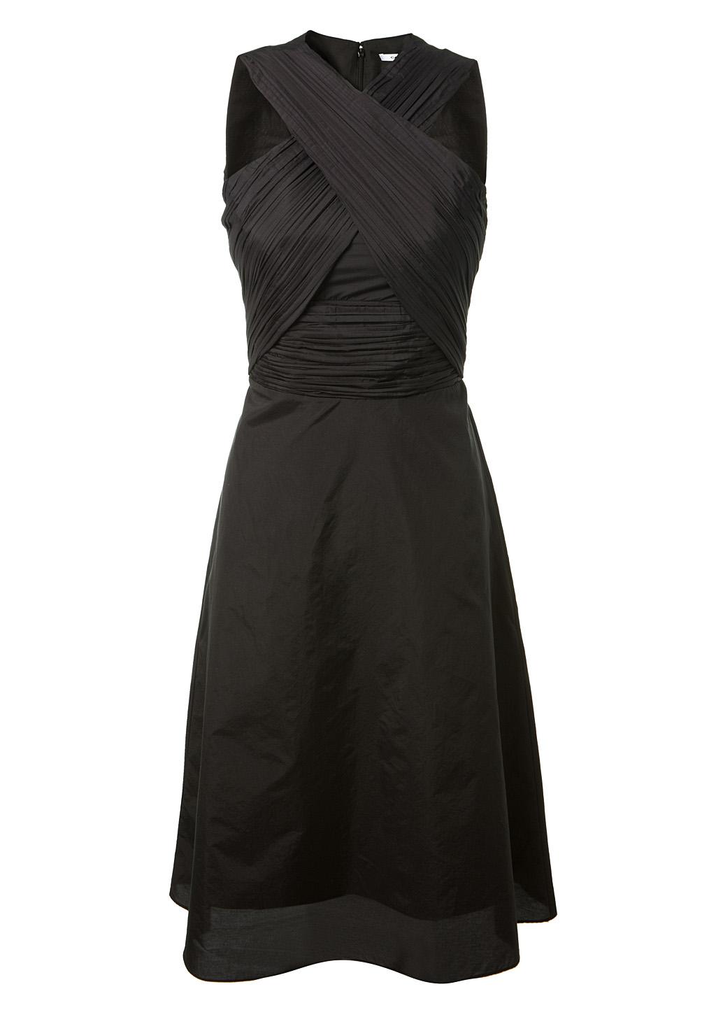 eaa30e60bd Carven Black Cotton Blend Dress With Criss Cross Neck