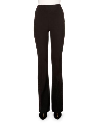 Roland Mouret Stretch-crepe Flare-leg Pants, Black