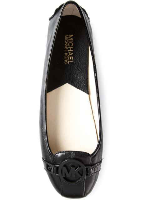 Michael Michael Kors Fulton Leather Logo Moccasin, Black