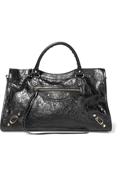 Balenciaga Classic City Large Textured-leather Tote In Black