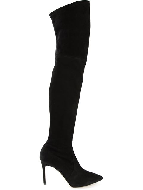 Casadei 'Evening' Thigh Length Boots In Black