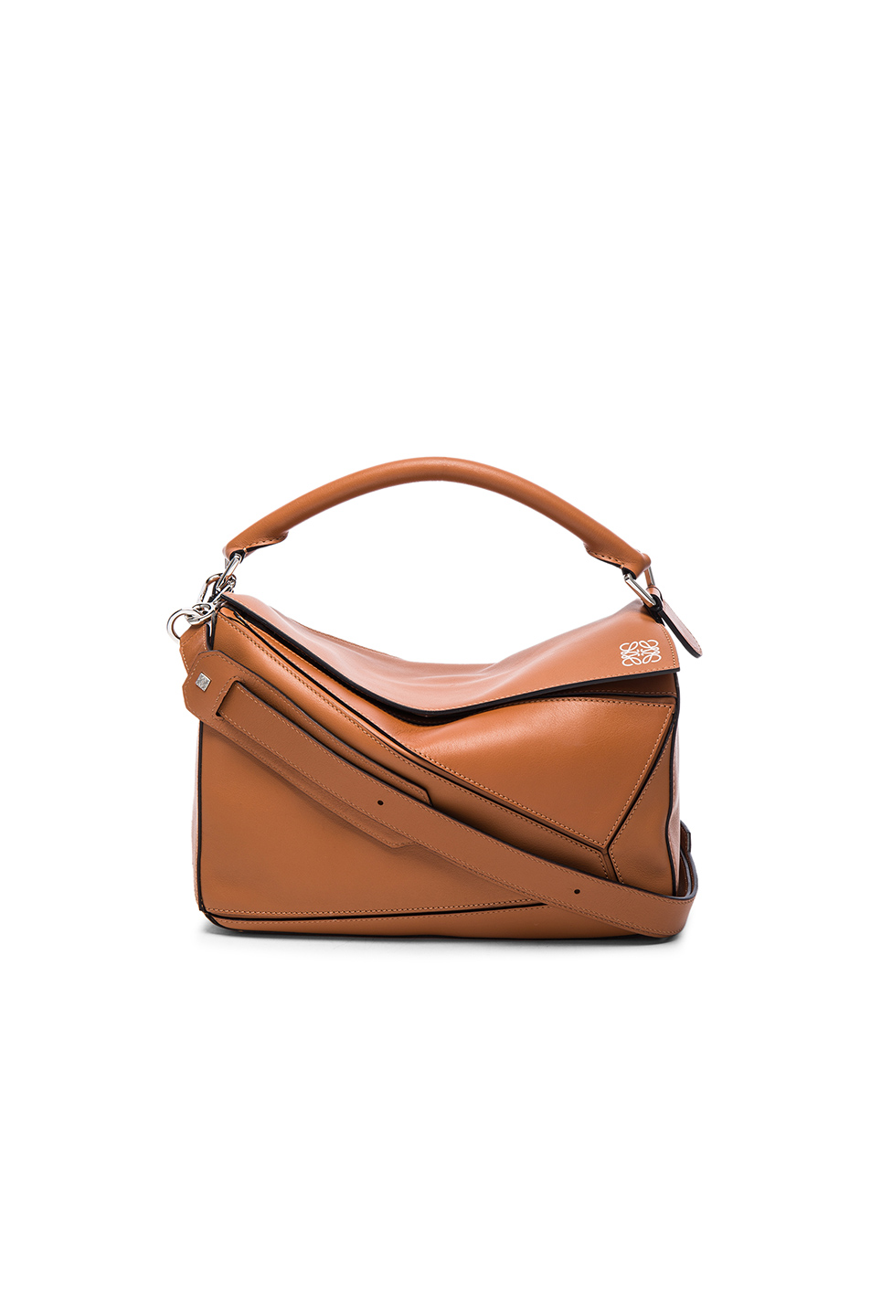 Loewe Puzzle Mini Grained-leather Cross-body Bag In 2530 Tan