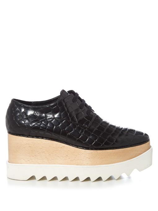 26a4532e3a4a Stella Mccartney Women S Elyse Faux Crocodile Platform Shoes In Brown In  Black