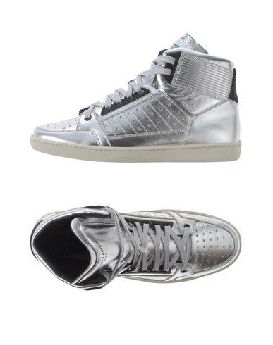 Saint Laurent Sneakers In Silver