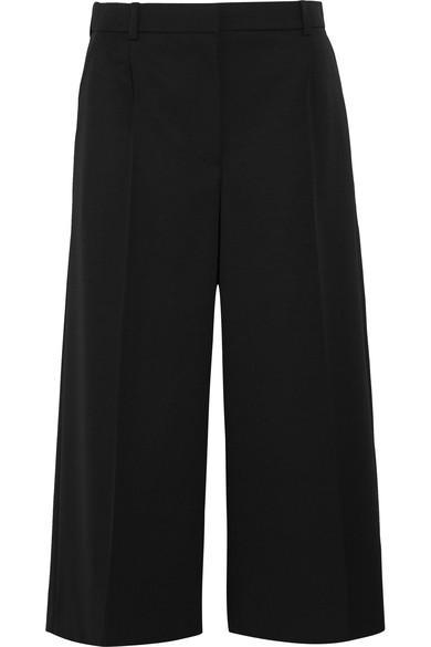 Alexander Mcqueen Woman Wool-twill Culottes Black