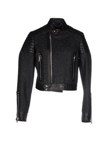 Diesel Panelled Biker Jacket In Black