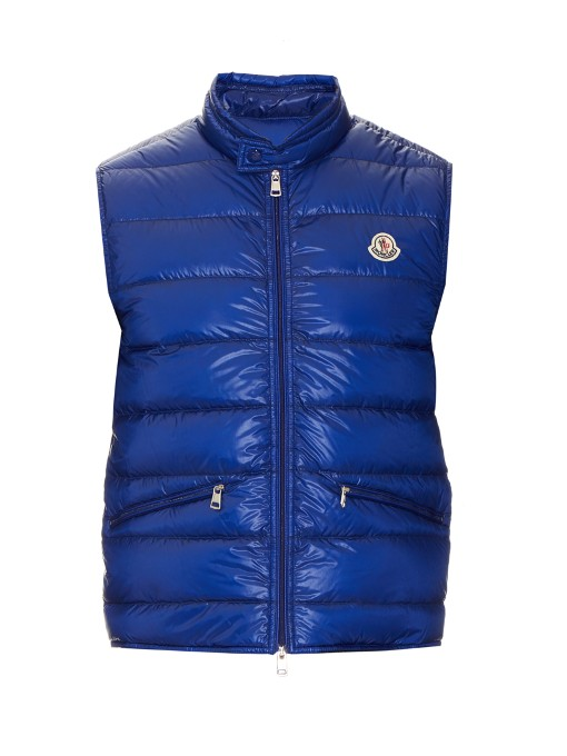 Moncler Gui Lightweight Quilted Puffer Vest, Blue In Electric-blue