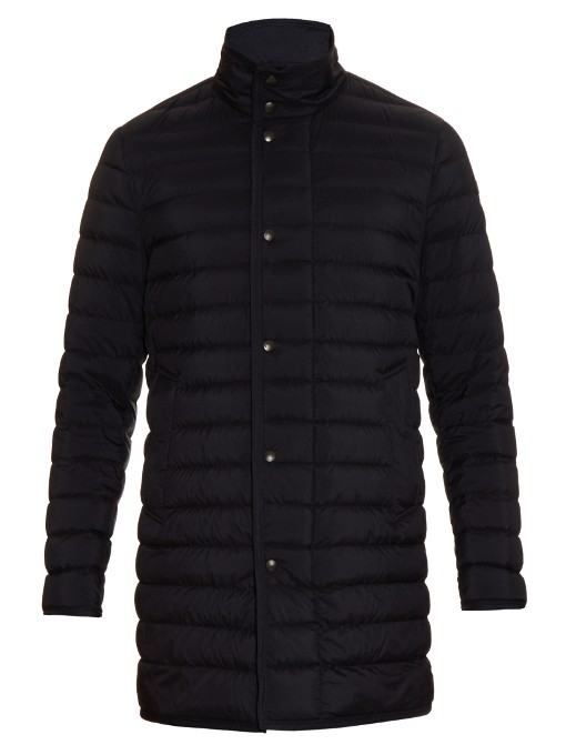 Moncler Verne Quilted-down Coat In Navy