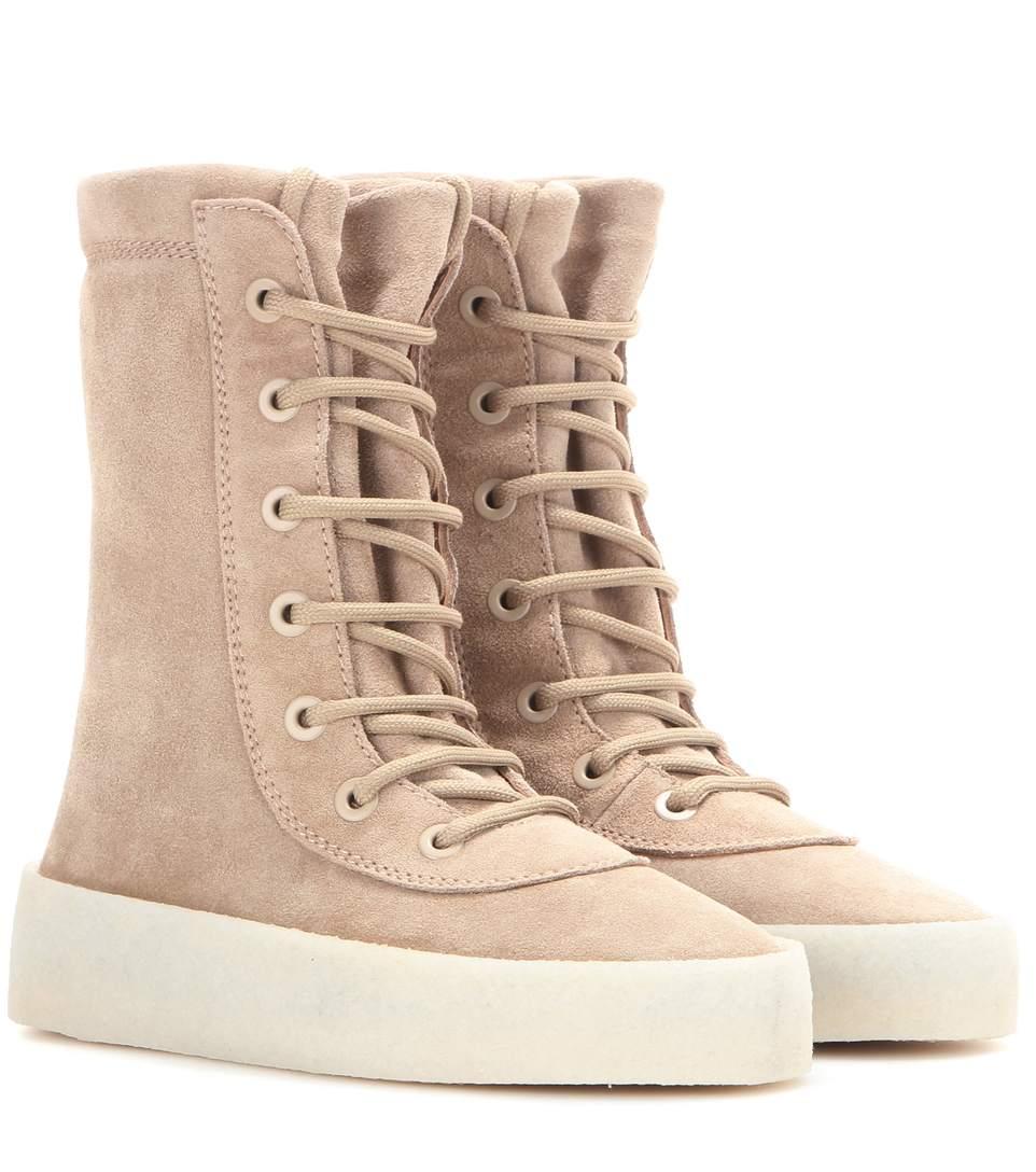 8c91a3d920d68 Yeezy CrÊPe Suede Boots (Season 2) In Neutrals