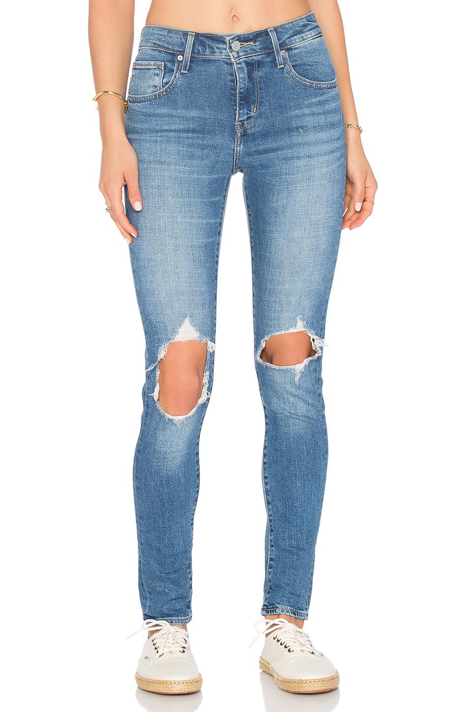 d710b622f09f5 Levi s 721 Ripped High Waist Skinny Jeans In Blue