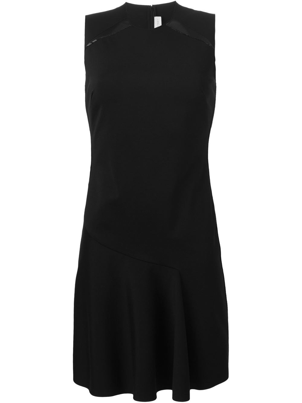 Stella Mccartney Willow Sleeveless Wrap-Detail Cotton Midi Dress, Dark Blue