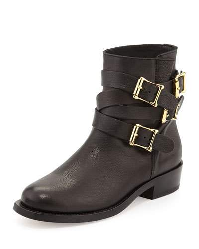 Rupert Sanderson Multi-buckle Leather Ankle Boot, Black