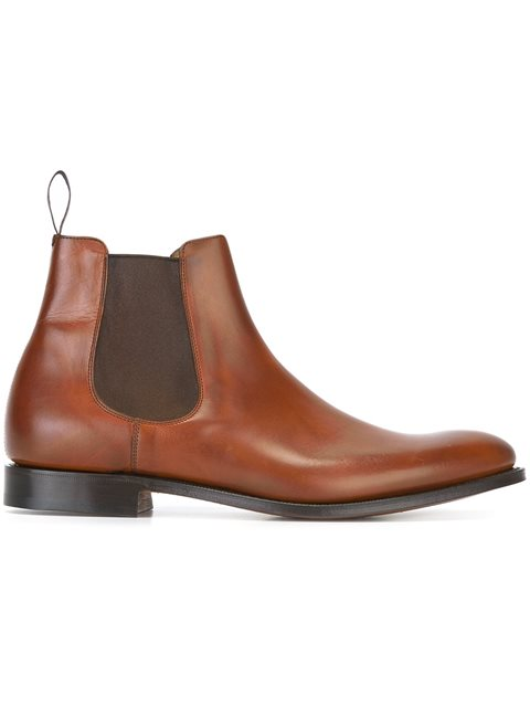 7d0cc4d8ee816 Church's Houston Walnut Leather Chelsea Boots In Neutrals | ModeSens