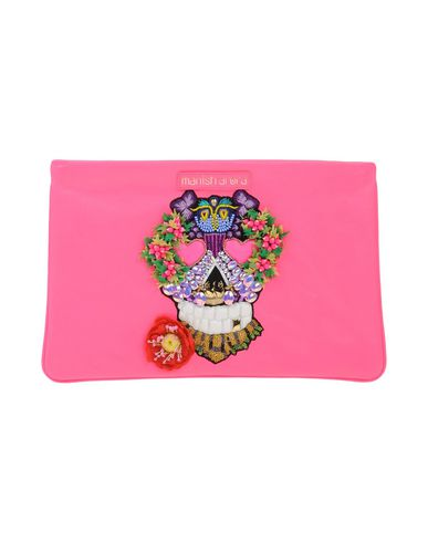 Manish Arora Skull Embellished Leather Pouch, Fuchsia