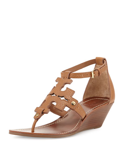 668108861905 Tory Burch  Chandler  Wedge Leather Sandal (Women) In Royal Tan ...
