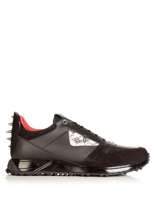 9a1bd052bca437 Fendi Black Monster Eyes Sneakers