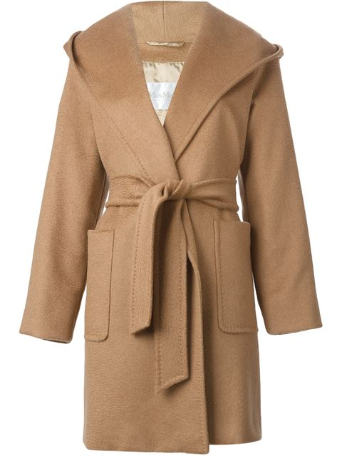 c70b89f7b35e5 Max Mara Rialto Hooded Camel Hair Coat In Beige