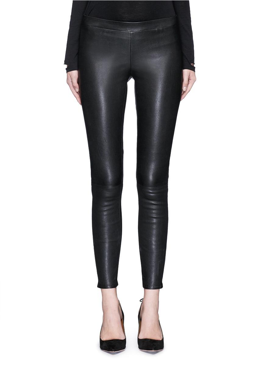 13829d2ad430cd J Brand 'Edita' Lambskin Leather Leggings In Llack | ModeSens