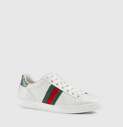 "Gucci Sneakers ""ace"" In White Leather"