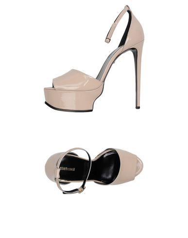 Roberto Cavalli Patent Leather Platform Sandals