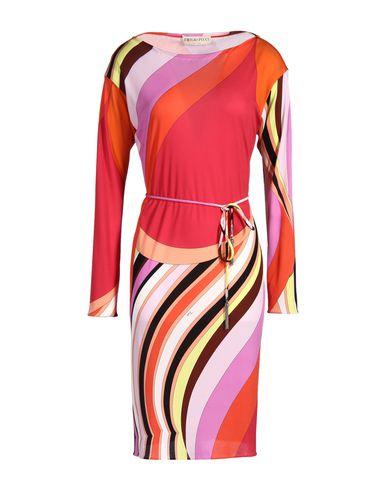Emilio Pucci Marilyn Printed Silk Dress In Red Onyx Print