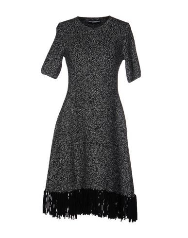 Dolce & Gabbana Fringed Cashmere Dress In Black