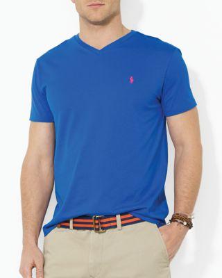 Polo Ralph Lauren Men's Core Medium-fit V-neck Cotton Jersey T-shirt In Pacific Royal Blue