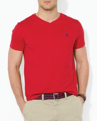 Polo Ralph Lauren Men's Core Medium-fit V-neck Cotton Jersey T-shirt In Rl2000 Red