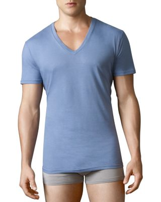 Polo Ralph Lauren V-neck Tees, Pack Of 3 In Blues