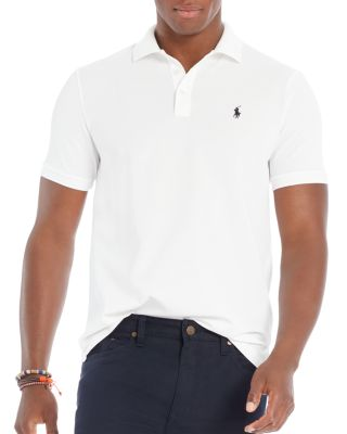 Polo Ralph Lauren Stretch Mesh Classic Fit Polo Shirt In White