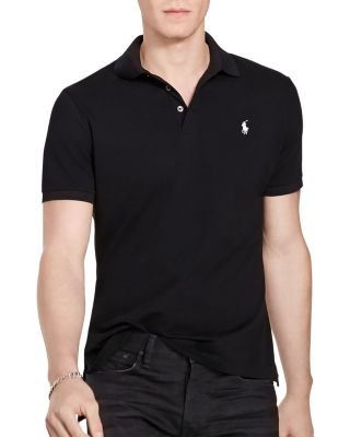 Polo Ralph Lauren Stretch Mesh Classic Fit Polo Shirt In Polo Black