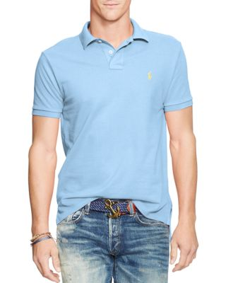 Polo Ralph Lauren Men's Slim-fit Cotton Mesh Polo Shirt In Chatham Blue