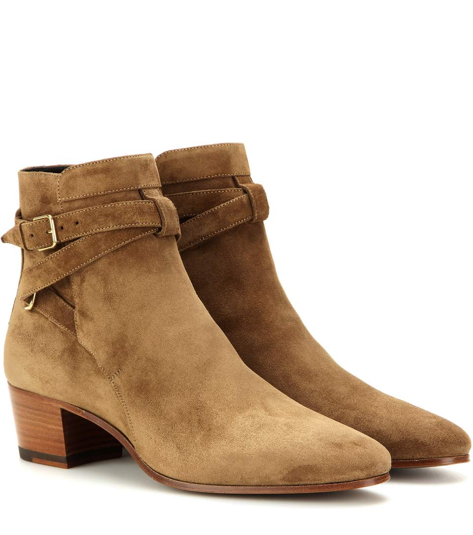 ab2d0e719ba Saint Laurent Blake Ankle Boots - 2712 Sigaro In Camel-Brown | ModeSens