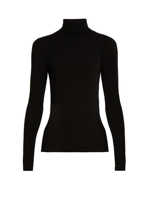 Diane Von Furstenberg Jelena Turtleneck Sweater In Black