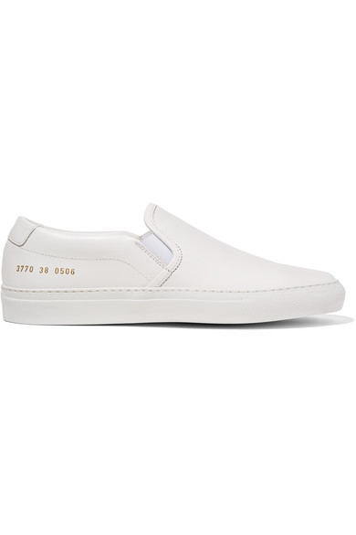 Common Projects Woman Leather Slip-on Sneakers White