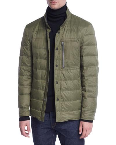 Tom Ford Down Shirt Jacket, Green