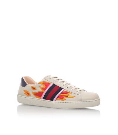 f688d1ad8 Gucci 'New Ace Flames' Sneaker With Genuine Snakeskin Detail (Men) ...