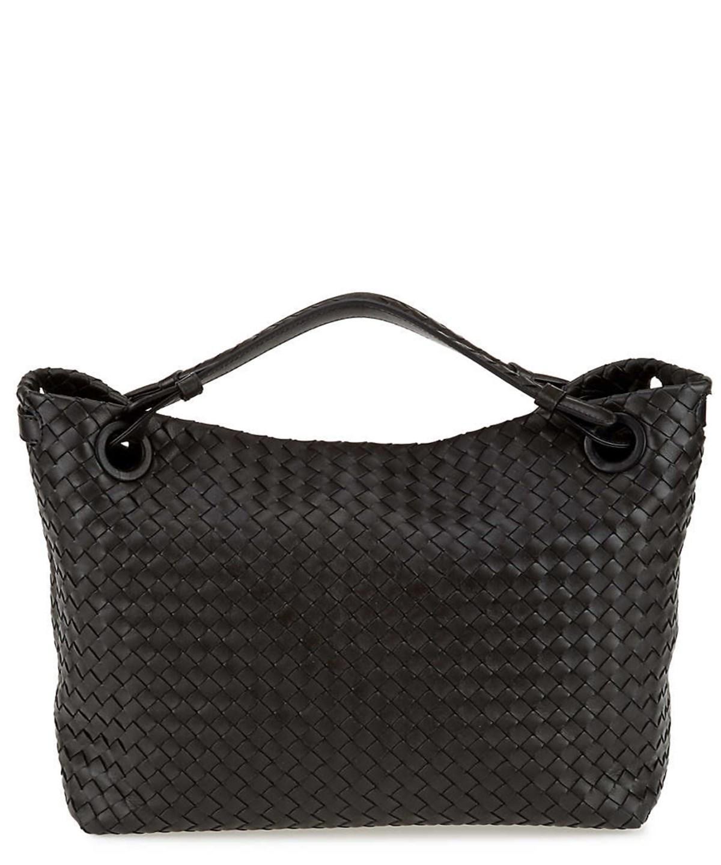 Bottega Veneta Intrecciato Nappa Leather Medium Garda Shoulder Bag In Black