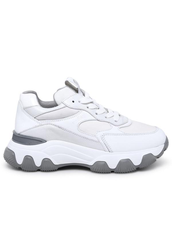 Hogan Sneaker Hyperactive In Pelle Bianca In White   ModeSens